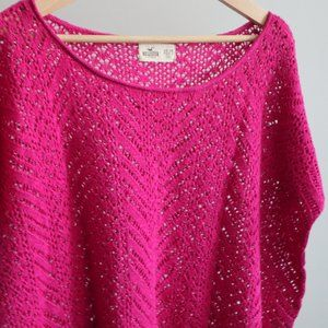 Pink Crocheted Layering Top | Hollister